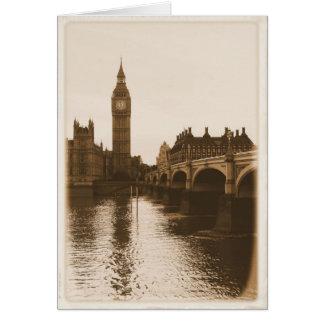 London - Big Ben - Thames Greeting Card