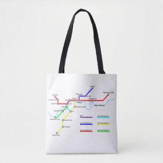 London Bike Map Tote Bag