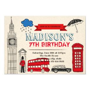 London Birthday Party Invitation