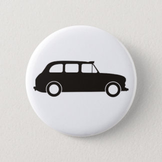 London Black Cab Pinback Button