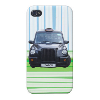 London Black Taxi Cab - blue and green iPhone 4/4S Cover