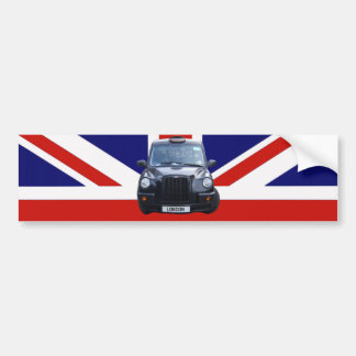 London Black Taxi Cab Bumper Sticker