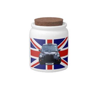 London Black Taxi Cab Candy Jar