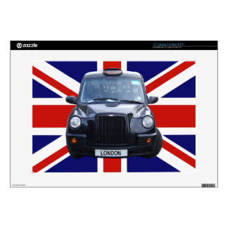 London Black Taxi Cab Decal For Laptop