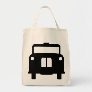 London Black Taxi/Cab Design Grocery Tote Bag