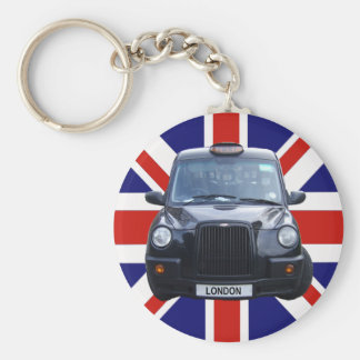 London Black Taxi Cab Key Chain