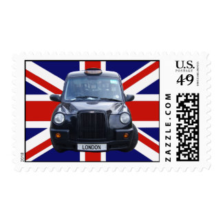 London Black Taxi Cab Postage Stamps