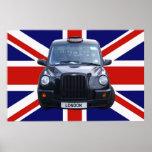 London Black Taxi Cab Poster
