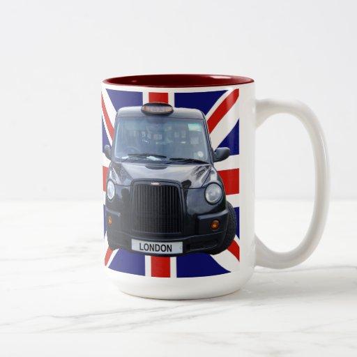 London Black Taxi Cab Two-Tone Coffee Mug