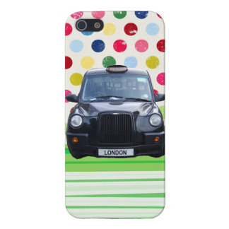 London Black Taxi Cab with colorful polka dots Cover For iPhone SE/5/5s