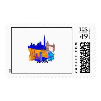 london blue city image png stamp