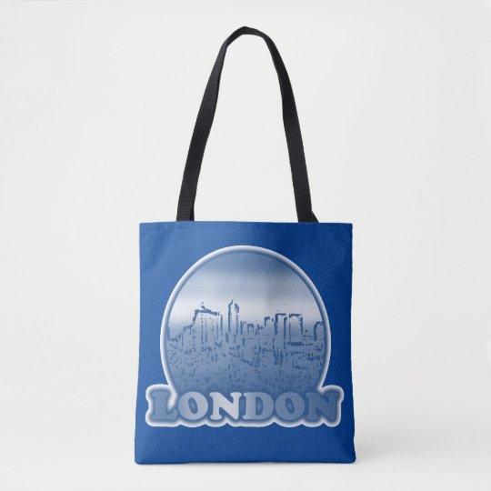 London Blue Sun Tote Bag
