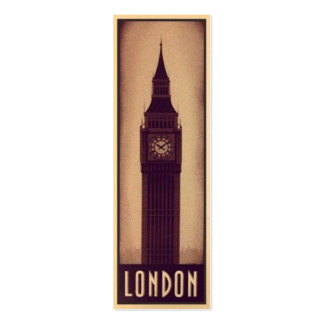 London Bookmark Card with Big Ben Silhouette