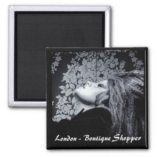 London - Boutique Shopper (Fridge Magnet) Magnet