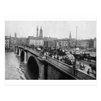 London Bridge and St Magnus the Martyr 1900s Post Card