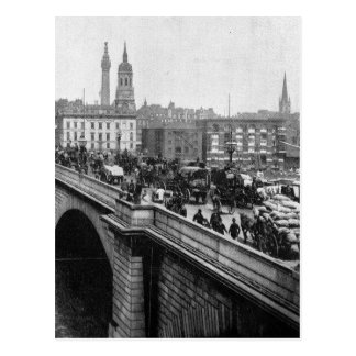 London Bridge and St Magnus the Martyr 1900s Postcard