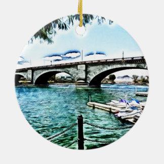 London Bridge at Lake Havasu City, Arizona Ceramic Ornament