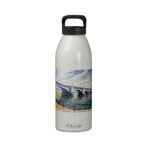 London Bridge by Alfred Zwiebel Drinking Bottles