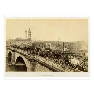London Bridge, c.1880 (sepia photo) Postcard