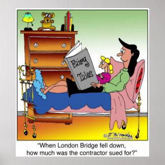 London Bridge Contractor Sued Poster