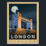 "London Bridge | England Postcard<br><div class=""desc"">Anderson Design Group is an award-winning illustration and design firm in Nashville,  Tennessee. Founder Joel Anderson directs a team of talented artists to create original poster art that looks like classic vintage advertising prints from the 1920s to the 1960s.</div>"