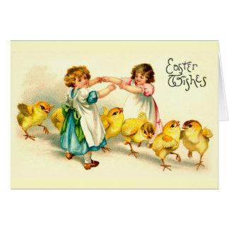 London Bridge Happy Easter Cute Vintage Card