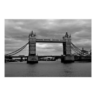 London Bridge  in Black and White Poster