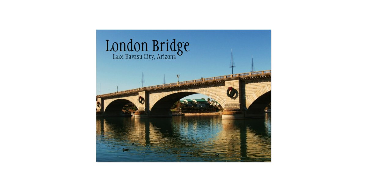 London Bridge Lake Havasu City Az Postcard Zazzle Com