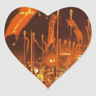 London Bridge on the Night of the Marriage Heart Sticker