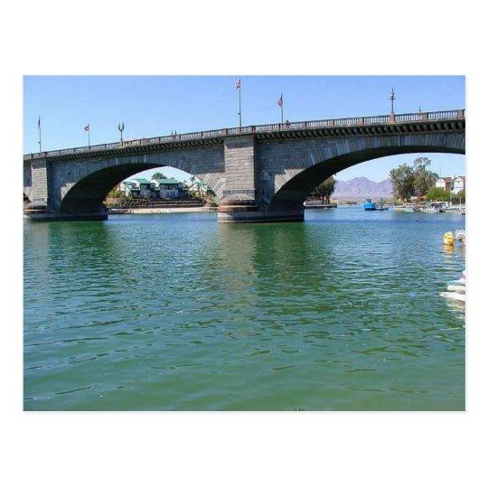 London Bridge Over Water Postcard