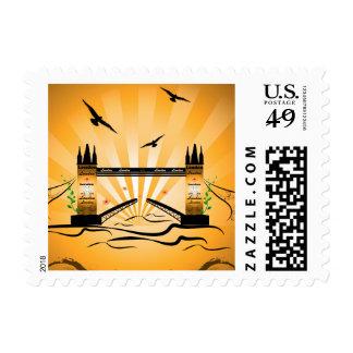 London bridge postage stamp