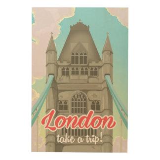 London Bridge vacation poster