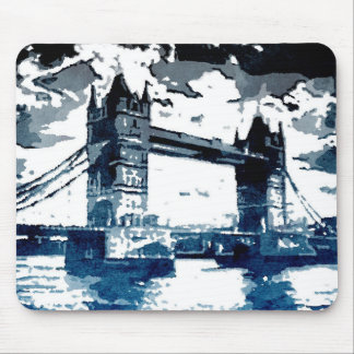 London Bridge Watercolor Print Mouse Pad