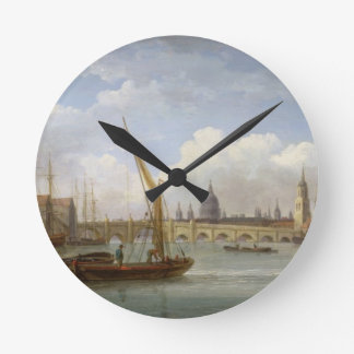London Bridge, with St. Paul's Cathedral in the Di Round Wallclocks