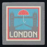"London Bridge with Umbrella Stone Coaster<br><div class=""desc"">London and Tower Bridge with Umbrella. | &#169; and &#174; Bigstock&#174; - All Rights Reserved.</div>"
