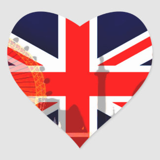 London-British Flag_ Heart Sticker