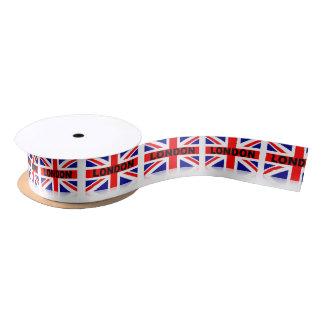 London British Flag Red Blue White Satin Ribbon
