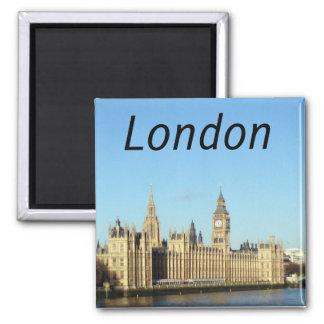 London, British parliament and the BigBen Fridge Magnets