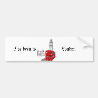 London Bumper Sticker. Bumper Sticker