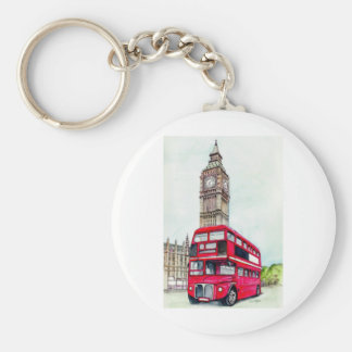 London Bus and Big Ben Keychain