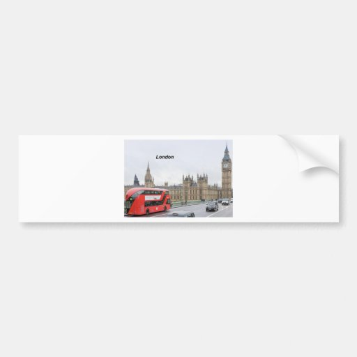 London Bus & Big Ben (St.K) Bumper Stickers