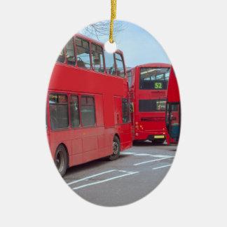 London Bus Ceramic Ornament