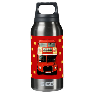 London Bus Decoration Insulated Water Bottle