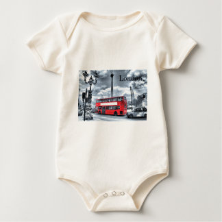 LONDON BUS in Black & White (St.K) Baby Bodysuit