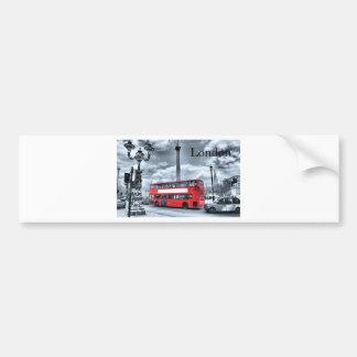 LONDON BUS in Black & White (St.K) Bumper Sticker