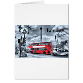 LONDON BUS in Black & White (St.K) Card