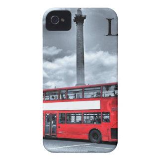 LONDON BUS in Black & White (St.K) iPhone 4 Case-Mate Case