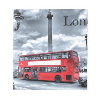 LONDON BUS in Black & White (St.K) Notepad
