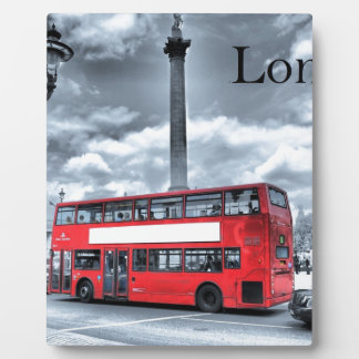 LONDON BUS in Black & White (St.K) Plaque