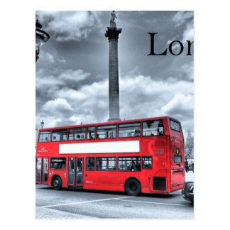 LONDON BUS in Black & White (St.K) Postcard
